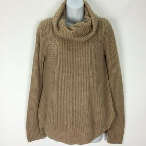 Topshop Brown Cowl Neck Sweater 14% Angora Hi Low